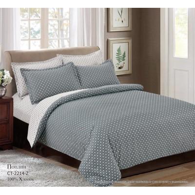 Комплект постельного белья (Евро) Хлопок (Поплин) СТ-2214-Z