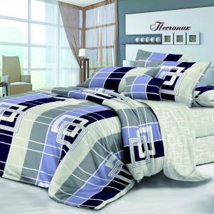 Комплект постельного белья Viola (2-х спальный-Евро) Хлопок (Сатин) Т-096