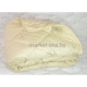 Одеяло «Верблюжья шерсть» Премиум (1,5-СПАЛЬНОЕ, хлопок/тик), 300 гр./м., 143х205см.
