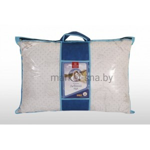 "Подушка ""Лебяжий пух""  50x70 (микрофибра, сумка, съемный чехол)"
