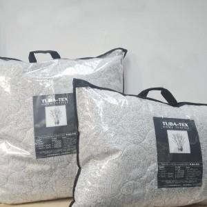 """Подушка """"Лён"""" 50x70 (Поплин, Льняное волокно, сумка, съемный чехол)"""