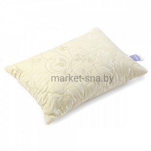 "Подушка ""Шелк"" (50x70, хлопок/сатин-жаккард, шёлковое волокно термоскрепленное, 150 гр./м2)"