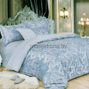 Покрывало Сатин-Жаккард «Viola» (голубое) V06