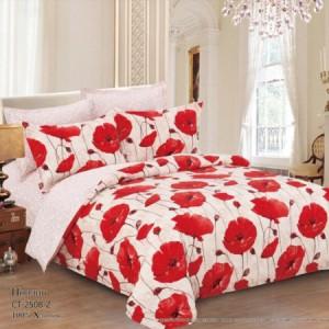 Комплект постельного белья (1,5 спальный) Хлопок (Поплин) CT-2508-Z