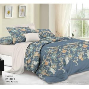Комплект постельного белья (1,5 спальный) Хлопок (Поплин) СТ-1017-Z