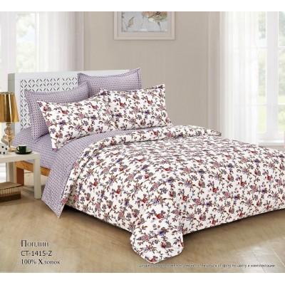 Комплект постельного белья (1,5 спальный) Хлопок (Поплин) CT-1415-Z