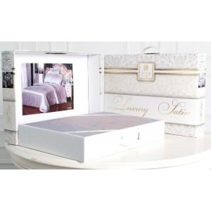 Комплект постельного белья Хлопок (Сатин-жаккард) Viola (1,5 спальный) LM-801