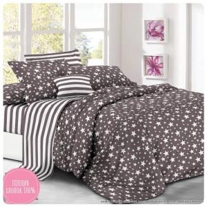 Комплект постельного белья (2-х спальный-Евро) Хлопок (Поплин) CT-621-Z