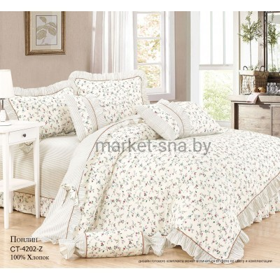 Комплект постельного белья (2-х спальный-Евро) Хлопок (Поплин) СТ-4202-Z