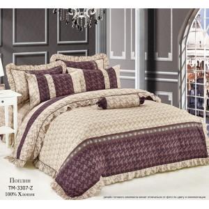 Комплект постельного белья (2-х спальный-Евро) Хлопок (Поплин) CT-3307-Z