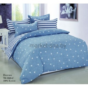 Комплект постельного белья (Евро) Хлопок (Поплин) СТ-3505-Z