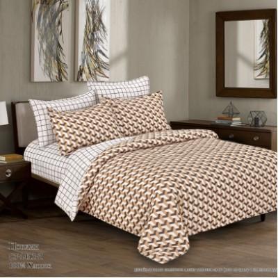 Комплект постельного белья (Евро) Хлопок (Поплин) СТ-1412-Z