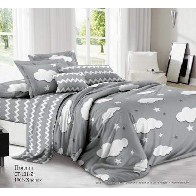 Комплект постельного белья (Евро) Хлопок (Поплин) СТ-101-Z